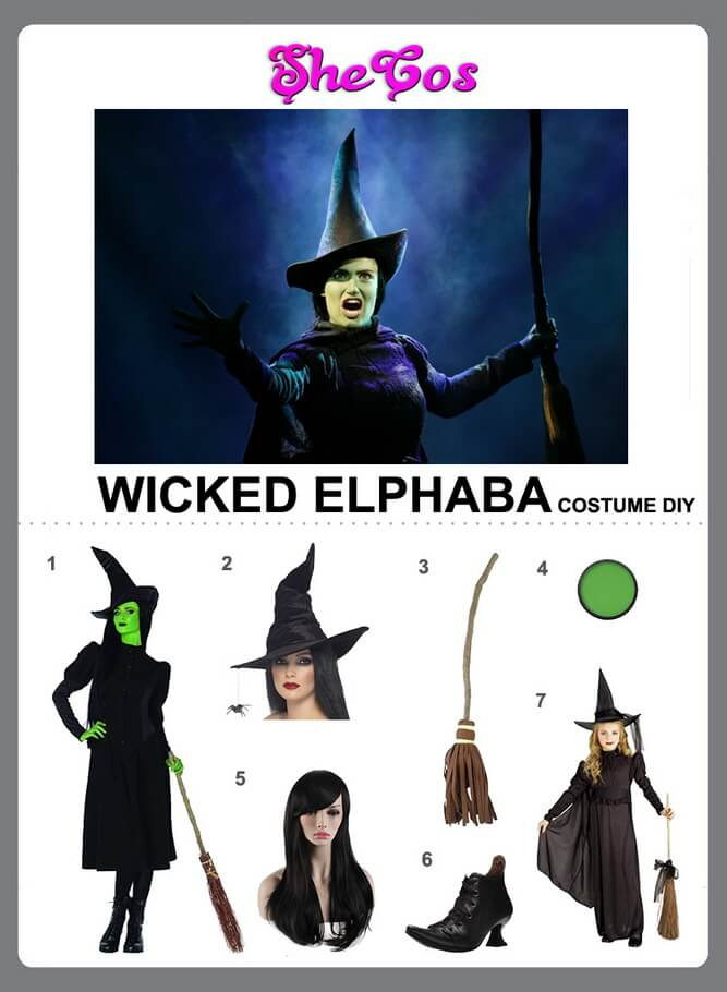 wicked elphaba costume diy