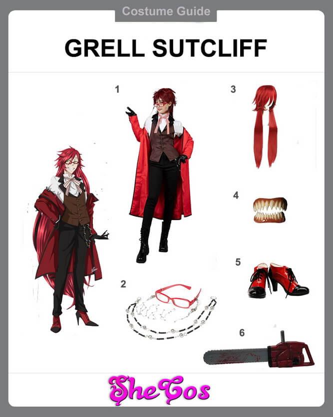 Grell Sutcliff cosplay diy