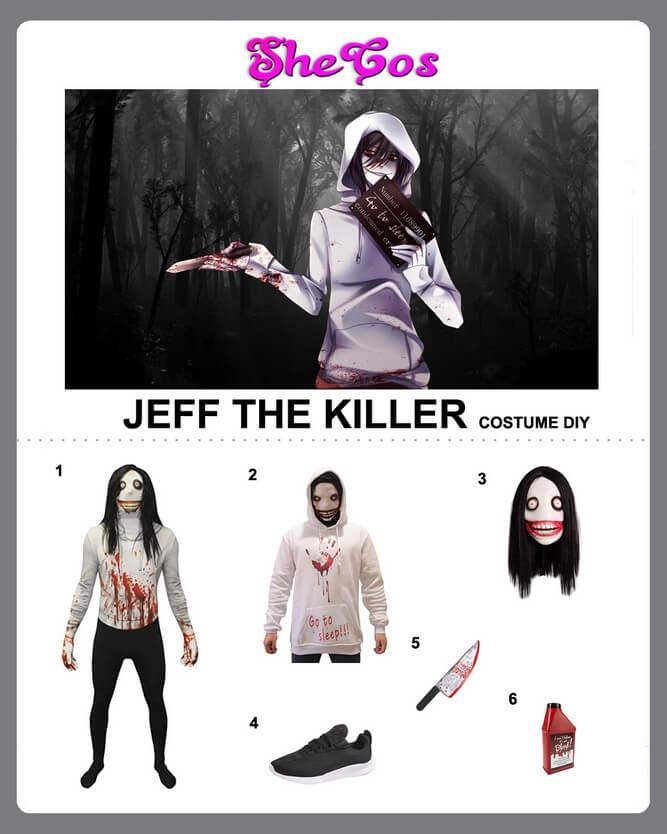 jeff the killer costume diy