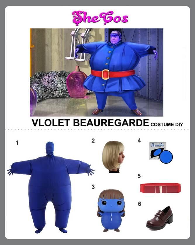 violet beauregarde costume diy