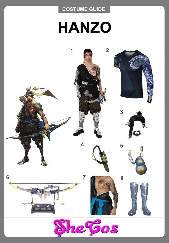 hanzo cosplay DIY
