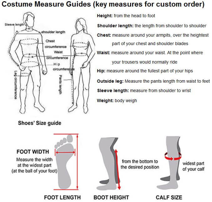 costume measurement guide