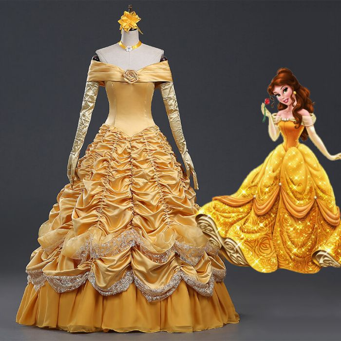 belle costume adult  sc 1 st  Real Your Princess Dream at SheCos & Beauty and Beast Belle Adult Dress