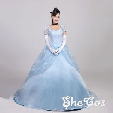 Princess Cinderella Adult Blue Dress Cosplay Costume