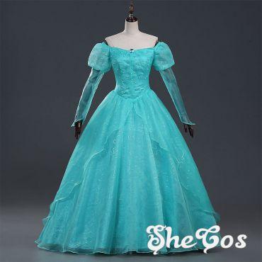 Sleeping Beauty Princess Aurora Blue Dresses